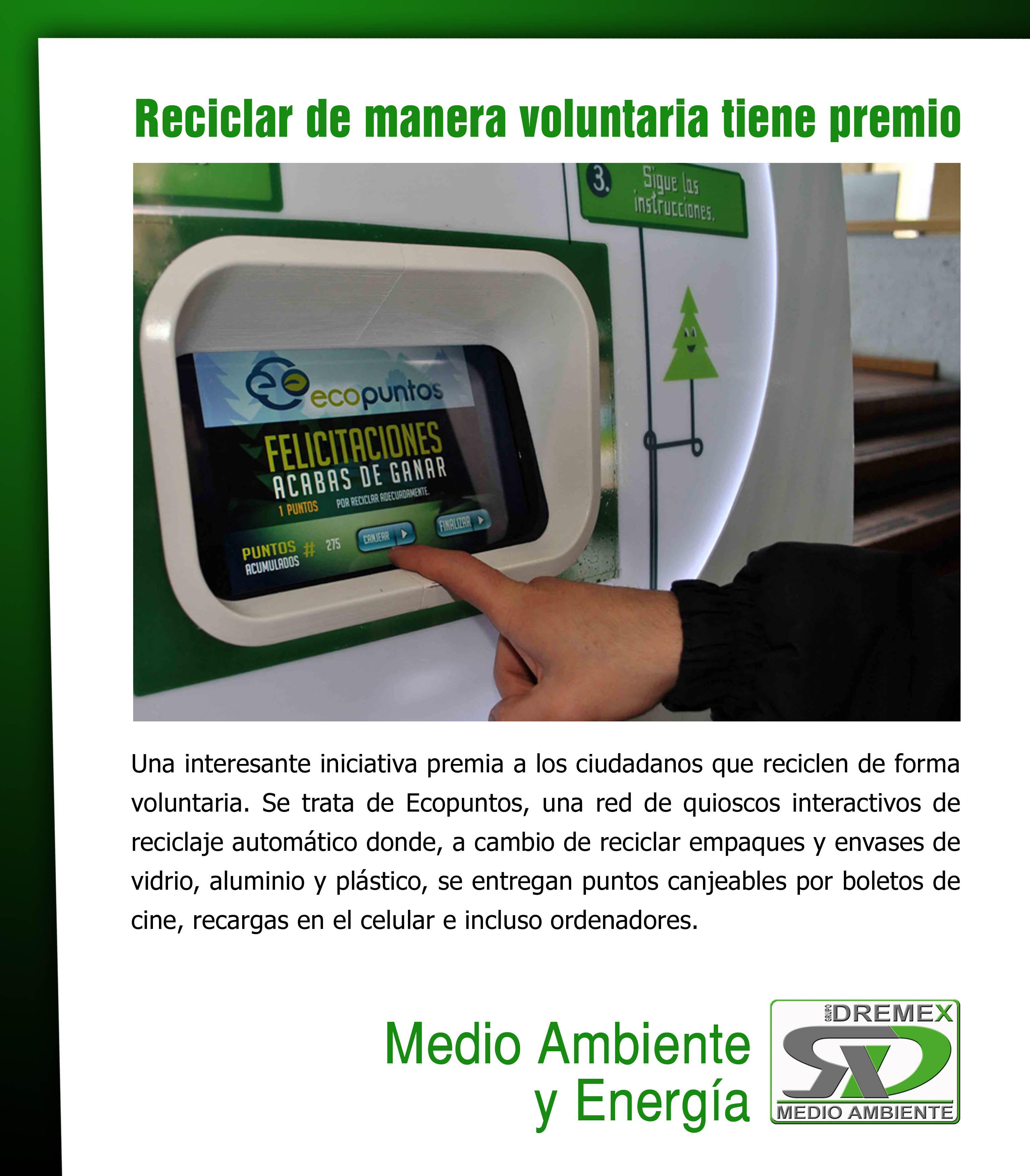 20 Maneras De Cómo Reciclar Las Ruedas De Tu Bicicleta: Dremex.es ECO PUNTOS, Reciclar De Manera Voluntaria Tiene